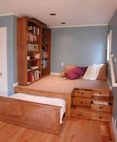 Maximize a small space! Wow!  More at: www.diycozyhome.com Very neat idea, but I get nervous about such permanent looking alterations.