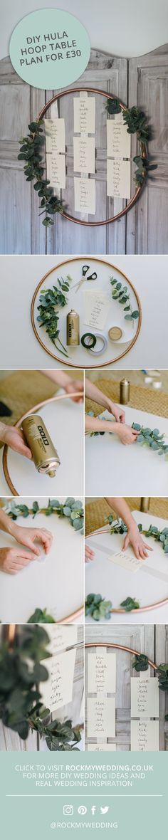 Hula Hoop table plan DIY tutorial make your own for 30 € - - . - - Hula Hoop table plan DIY tutorial make your own for 30 € - - . Wedding Planning Binder, Wedding Planning On A Budget, Budget Wedding, Wedding Ideas, Wedding Games, Wedding Rings, Hula Hoop, Seating Plan Wedding, Wedding Table