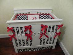 Baby Boy Mini Crib Bedding - Boy Mini Crib Baby Bedding, Navy and Red Baby Bedding Mini Crib Bedding, Custom Baby Bedding, Baby Boy Bedding, Baby Cribs, Plastic Laundry Basket, Our Baby, Kids Room, Baby Rooms, Boys