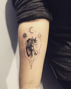 horse tattoo by can find Horse tattoos and more on our website.horse tattoo by Line Art Tattoos, Cute Tattoos, Body Art Tattoos, Sleeve Tattoos, Tattoos For Guys, Tattoos For Women, Sexy Tattoos, Wing Tattoos, Tatoos