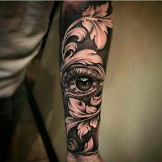 New black art tattoo ideas eyes 64 Ideas Future Tattoos, New Tattoos, Body Art Tattoos, Tattoos For Guys, Cool Tattoos, Baroque Tattoo, Filigree Tattoo, Tattoo Sleeve Designs, Sleeve Tattoos