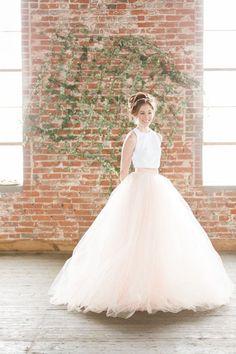 Bridal Skirt - Norma J. - Two Piece Wedding Dress - Wedding Skirt - Tulle Wedding Dress - Color Wedd