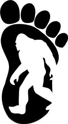 Yeti Bigfoot Footprint Sasquatch Believe Styling Car Sticker Jeep Off Road Vinyl Decal - Car Window, Laptop, Wall, Room Planner Stickers, Bumper Stickers, Yeti Stickers, Vintage Jeep, Lightning Mcqueen, Disney Cars, Cricut Vinyl, Vinyl Decals, Stickers