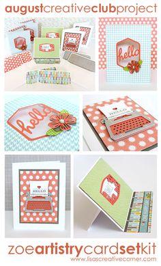 Lisa's Creative Corner: August Project Kit - Zoe Artistry Card Kit