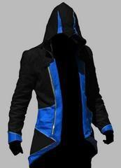 Assassins Creed 3 III Conner Kenway Hoodies Jacket Aassassins Creed Costume Connor Cosplay Novelty Sweatshirt Hoody Coat Jackets - Blue Black / XL