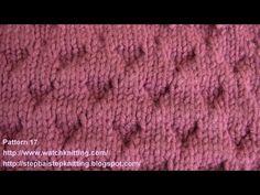 (Rhomboid) - Embossed Knitting Patterns - Free Knitting Tutorials - Watch Knitting - pattern 17