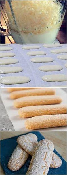Deliciosa e macia BOLACHA CHAMPAGNE CASEIRA...VEJA AQUI>>>Despeje 1/3 do açúcar sobre as gemas. Bata até ficarem brancas. Bata as claras em neve com os 2/3 restantes do açúcar #pudim#mousse#pave#Cheesecake#chocolate#c#receita#bolo#doce#sobremesa#aniversario#confeitaria#bolo