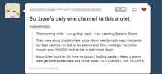 And the saga of Mr. Noodle: