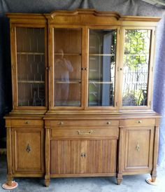 2 piece  Breakfront China Cabinet