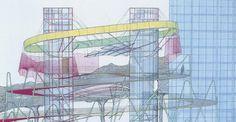 Peter Cook's Drawings, Breitscheidplatz, CRAB