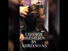 Lissage brésilien sur cheveux Afro - YouTube
