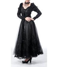 Queen of Darkness Dark Mistress Kleid Dress Barock Gothic Netz XS -XL #3126 436