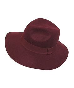 This Burgundy Floppy Wool Fedora by Dynamic Asia is perfect! #zulilyfinds