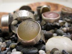 Fluss Steine Ringe mit geschmiedetem Silber von rebeccabashara