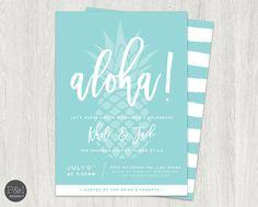 Aloha Luau Engagement Party Invitation  DIY by paperandinkdesignco