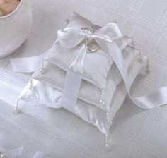 HERE COMES THE BRIDE | Wedding Ring Pillows - free pattern