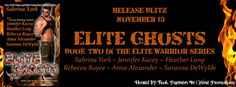 New Release ~ Elite Ghosts by Sabrina York, Jennifer Kacey, Heather Long, Rebecca Royce, Anna Alexander, and Saranna DeWylde http://thehoardingreaderscorner.blogspot.com/2015/11/new-release-elite-ghosts.html