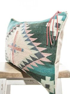 Teal Vintage Navajo Rescued Textile by My Vintage Pillow Navajo Weaving, Designer Pillow, Vintage Pillows, Handmade Shop, Rustic Furniture, Rustic Wedding, Tattoo Designs, Shop My, Teal