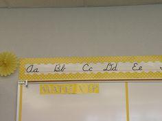 Yellow Classroom Decor : Classroom decor {editable yellow and gray chevron} best
