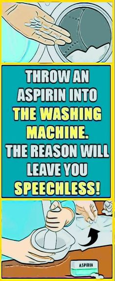 Throw An Aspirin Into The Washing Machine! The Reason Will Leave You Speechless! Throw An Aspirin Into The Washing Machine! The Reason Will Leave You Speechless! Fitness Inspiration, Fat Burning Detox Drinks, Dental Care, Science And Nature, Health Remedies, Ayurveda, Health Benefits, Tea Benefits, Natural Health