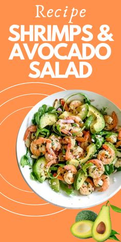 Shrimps and Avocado Salad – DuraGreenFit Shrimp Avocado Salad, Shrimp Salad Recipes, Avocado Salad Recipes, Fish Paella, Low Carb Recipes, Healthy Recipes, Butter Ingredients, Weight Watchers Meals, Healthy Dinners