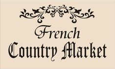 This French Country Market stencil is delightful and PERFECT for pillows or updating an old cabinet! The stencil design & French Flourish is