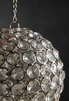 Crystal Diamond Hanging 5-3/4 in.  Ball $17  Aisle Decoration  @Jordan Buffington