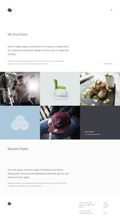 http://www.weareempire.co.uk/ I like the portfolio section on this site, the simplicity is good too but probably a little to minimal.