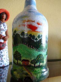Ateliê - Pintura decorativa sobre garrafas