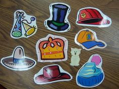 November 17, 2014. Which hat is the little cat hiding under? The kids loved this guessing game.