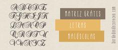 Matrizes grátis - Letras para Monograma   Bordados de Coração