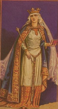 Good example of the dress of a Norman noblewoman during the 11th and early 12th century, showing queen Matilda, wife of William the Conqueror. Description from pinterest.com. I searched for this on bing.com/images