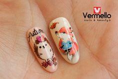 Autumn nail art with Vermello Nails gels and gel polish