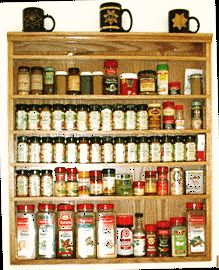 Wall mounted spice rack [Cabinet Style] made to accommodate large spice bottles - Order online - $222