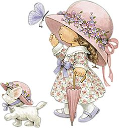 Art Image by Ruth Morehead. Cute Images, Cute Pictures, Teddy Images, Vintage Cards, Vintage Images, Sarah Key, Art Mignon, Holly Hobbie, Digi Stamps