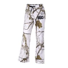 Perfect for lounging, these 100% cotton-flannel pants have a screen print Realtree Girl logo on the hip and feature a drawstring waist and corded piping detail on the cuffs.