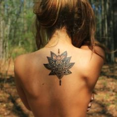 lotus flower, means overcoming all difficulties.  I kinda want this on my left hip