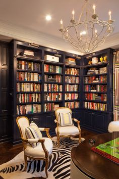 Farmhouse Bookshelves Home Office Design Ideas, Pictures, Remodel and Decor