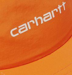 Carhartt Logo-embroidered Nylon Baseball Cap In Orange Dont Expect Anything, Carhartt Wip, Baseball Cap, Logos, Shopping, Baseball Hat, Logo, Ball Caps, Baseball Hats