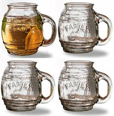 #Circleware family recipe small clear barrel #glasses set of 4 beer #drink cockta,  View more on the LINK: 	http://www.zeppy.io/product/gb/2/191346650112/
