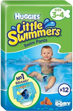 12 Diapers 8x 12 Diapers Pampers Splasher Swimming Pants Carry Pack Size 3-4