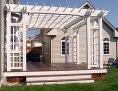 Tigerdeck decking with red cedar Pergola