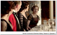 dining at Downton Abbey