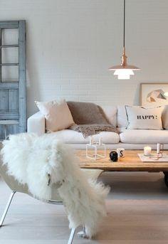 wohnzimmer skandinavisch einrichten Living Room Goals, Living Room Grey, Home And Living, Living Room Inspiration, Interior Inspiration, Cosy House, Color Azul, Bedroom Decor, Interior Design