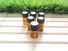 6 x Amber Glass Vial Essential Oil Sample by EssentialOilCafe Mini Glass Bottles, Glass Vials, Essential Oil Bottles, Essential Oils, Travel Size Bottles, Amber Glass, Spray Bottle, Travel Size Products, Essentials