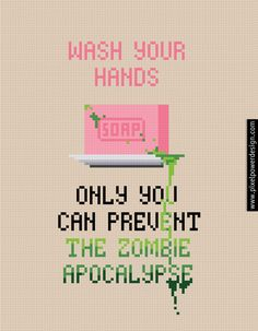 Wash Your Hands - PixelPower - Amazing Cross-Stitch Patterns