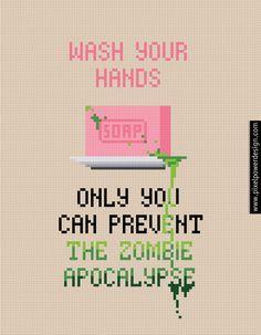 Wash Your Hands - PixelPower - Amazing Cross-Stitch Patterns