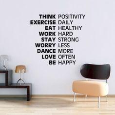 Tænk positivt! wallsticker
