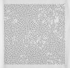 Interruptions, by Vera Molnar, 1968-69 // The prints in the Interruptions series are among Molnar's first software-generated images. She started working with computers in 1968 to produce unique ink on paper plotter drawings to realize her visual ideas.