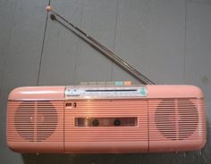 Pink 80's boom box - pretty sure I had this exact one!